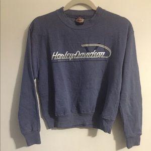 Harley-Davidson blue sweatshirt. Medium